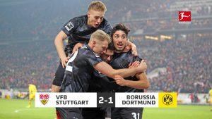 ผลบอลเมื่อคืน ศึกบุนเดสลีกา เยอรมัน สตุ๊ตการ์ท 2-1 ดอร์ทมุนด์